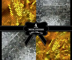 Metal background card vector