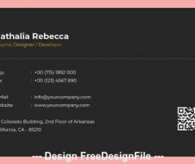 Minimalist Business Card PSD Template