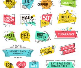 Modern Illustration sale labels vector