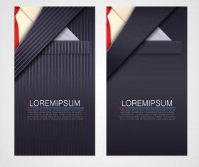 Modern vertical banners vector