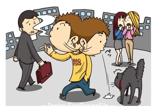 Moral cartoon vector
