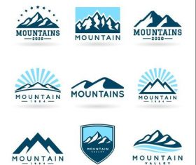 Mountains logo Icons vector