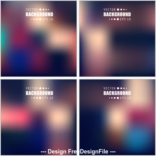 Multicolored blurred abstract background vector 02