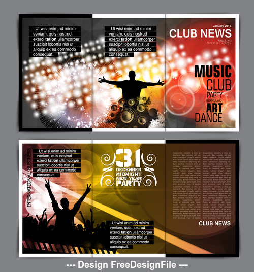 Music celebration template layout vector