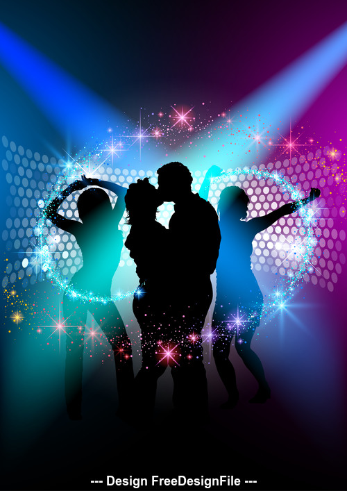 New year dance party poster vector