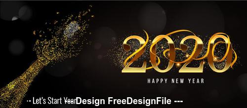 New year golden font vector