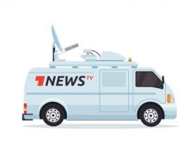 News broadcasting vehicle vector