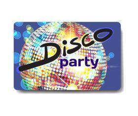 Night club gift card vector