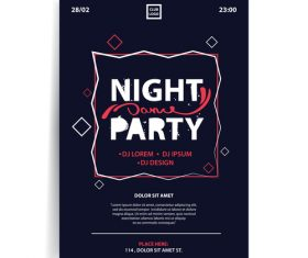 Night party dance party vector