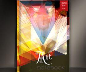 Notebook art cover design vector