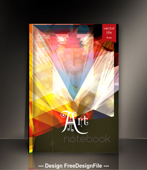 Notebook art cover design vector