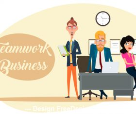 Office employee template illustration vector