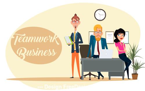 Office employee template illustration vector