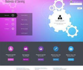 Online service website templates design vector