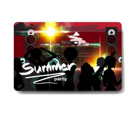 Open air concert card vector