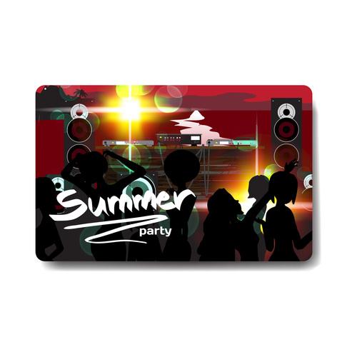 Open air concert card vector
