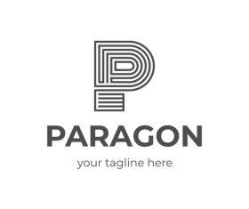Paragon P Letter Logo vector