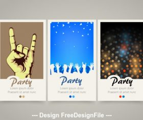 Party vertical banners vector