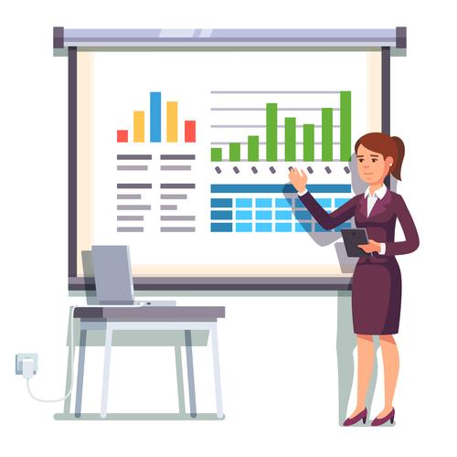 Performance report template illustration vector