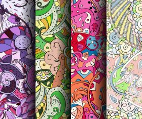 Personalized wallpaper murals seamless patterns vector