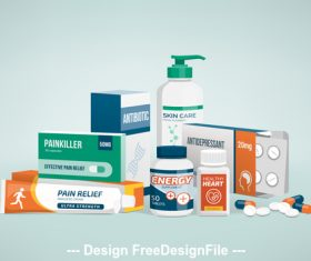 Pharmaceuticals icon vector