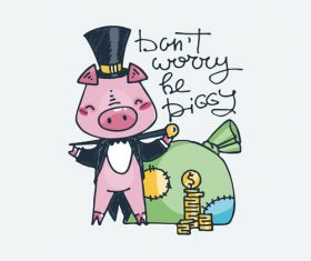 Pig businessman cartoon vector