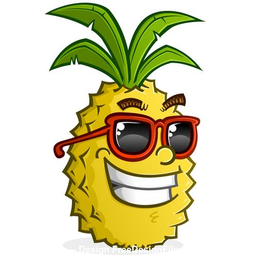 Pineapple cartoon vector