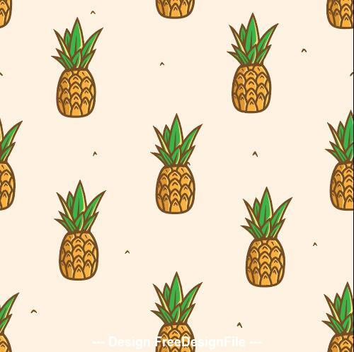 Pineapple seamless background pattern vector