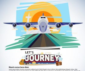 Plane cartoon illustration vector