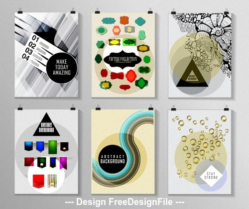 Poster background collection vector