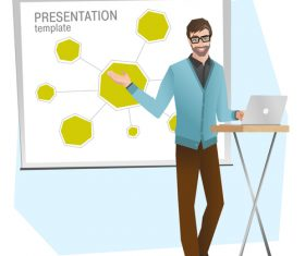 Presentation template illustration vector