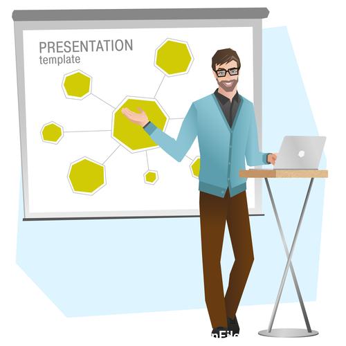 Presentation template illustration vector