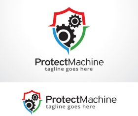Protect machine logo vector