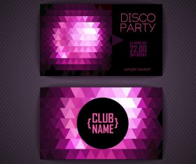 Purple background disci party flyer vector