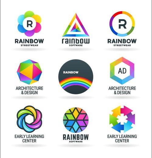 Rainbow Icons vector