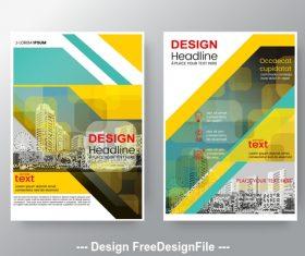 Real estate background Brochure flyer design vector