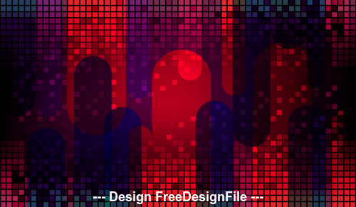Red abstract small checkered metal background vector