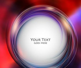 Red background abstract round vector