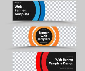 Red yellow blue tricolor banner template vector