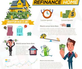 Refinance cartoon illustration vector