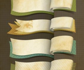 Retro ribbon banner design vector