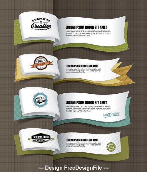 Ribbon banner design vector
