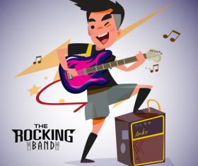 Rock cartoon illustration vector