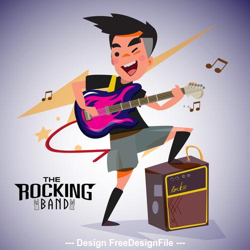 Rock cartoon illustration vector
