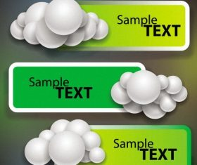 Sample text banner vector