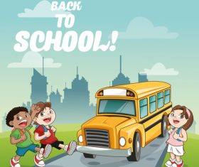 School cartoon illustration vector
