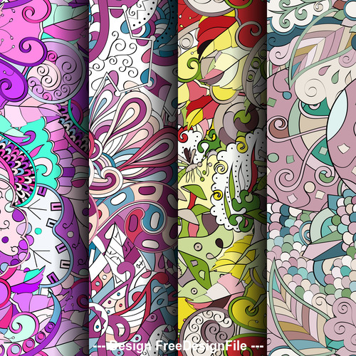 Seamless background tracery patterns vector