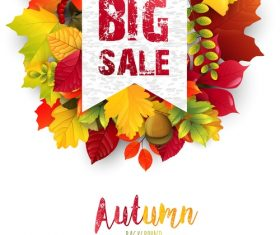 Season sale label vector