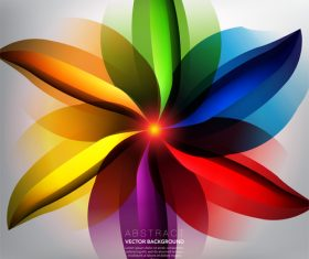 Seven colored petals background vector