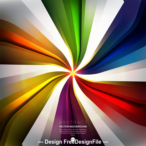 Seven colorful stripes background vector